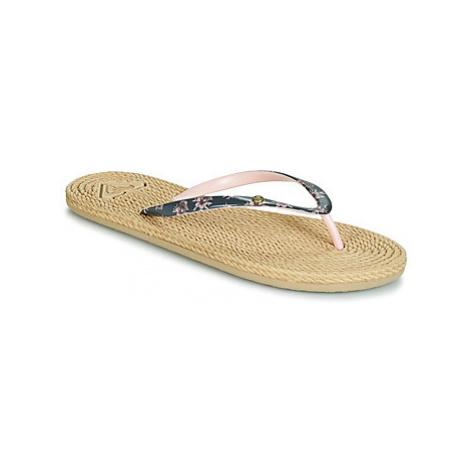 Roxy SOUTH BEACH II J SNDL DUB women's Flip flops / Sandals (Shoes) in Beige