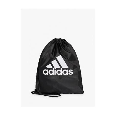 Adidas Performance Logo Drawstring Bag, Black/White