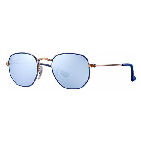Ray-Ban Hexagonal junior Unisex Sunglasses Lenses: Violet, Frame: Bronze-copper - RJ9541SN 264/1