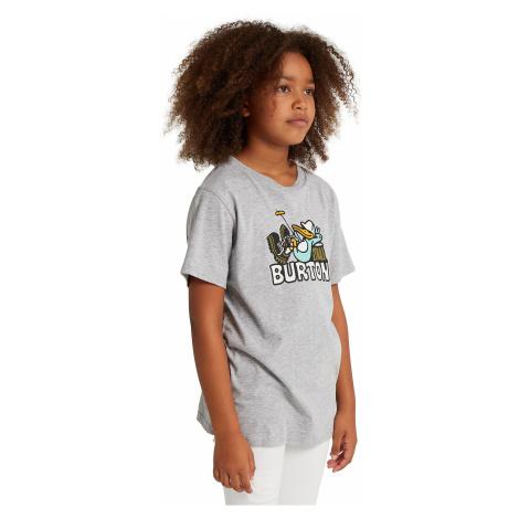 T-Shirt Burton Vizzer - Gray Heather - unisex junior