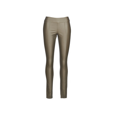 Cream BELUS women's Trousers in Kaki