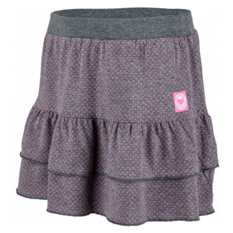 Lewro QUIRINA dark gray - Girl's ruffle skirt
