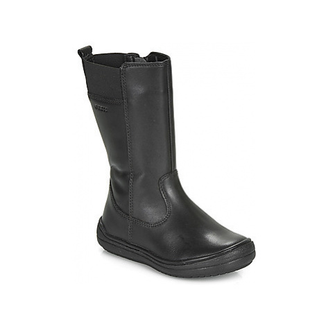 Geox J HADRIEL GIRL girls's Children's High Boots in Black