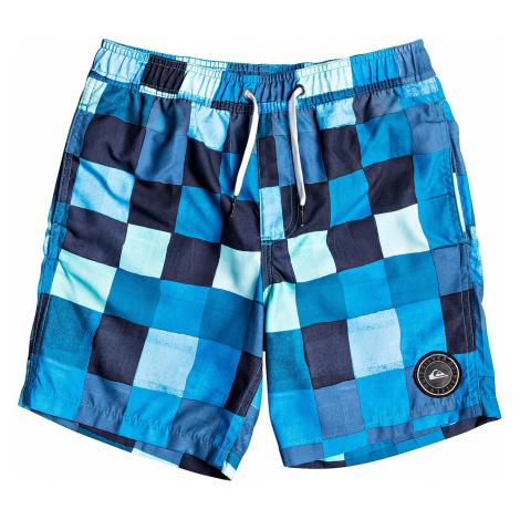 swimming shorts Quiksilver Resin Check Volley 15 - BMA6/Malibu - boy´s