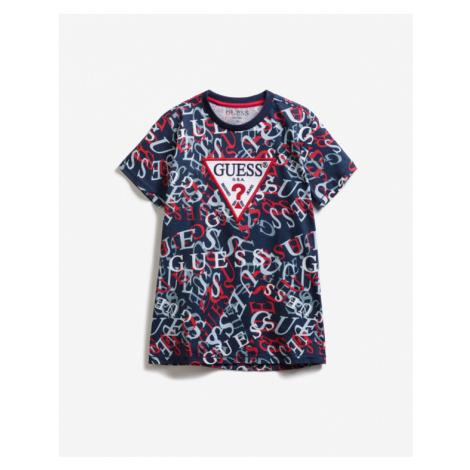 Guess Abstract Print Kids T-shirt Blue