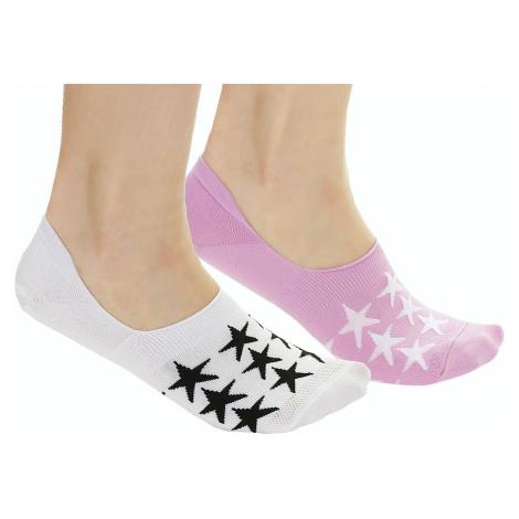 socks Converse Super Star Liner 2 Pack - E949P/White/Peony - women´s