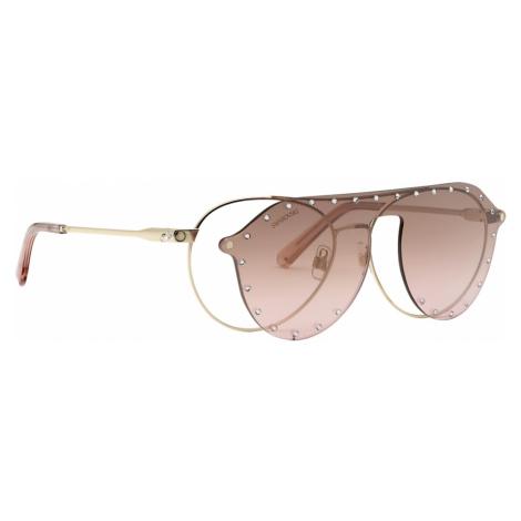 Swarovski Sunglasses with Click-on Mask, SK0276-H 54032, Pink