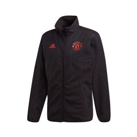 Manchester United Seasonal Fleece Jacket - Black Adidas