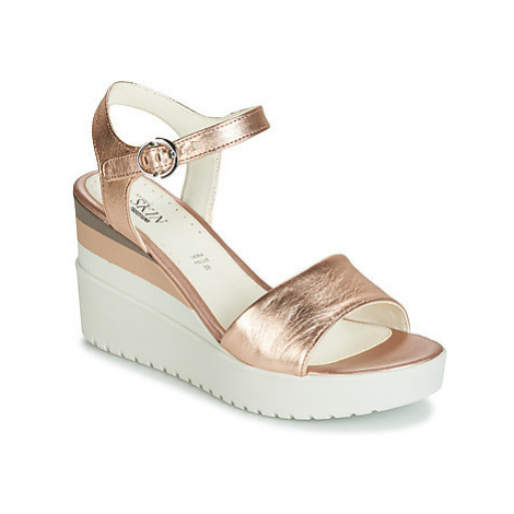 Stonefly ELY 7 LAMINATED LTH women's Sandals in Pink