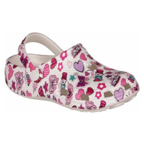 Coqui PRINTED white - Children's sandals