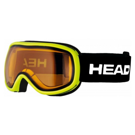 Head NINJA yellow - Children's ski goggles