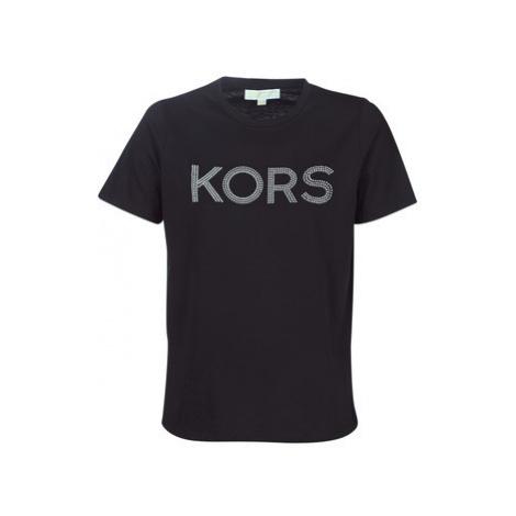 MICHAEL Michael Kors HT LOGO EASY TSHIRT women's T shirt in Black