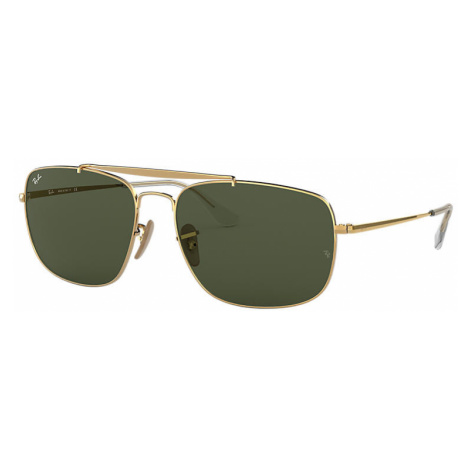 Ray-Ban Colonel Man Sunglasses Lenses: Green, Frame: Gold - RB3560 001 61-17