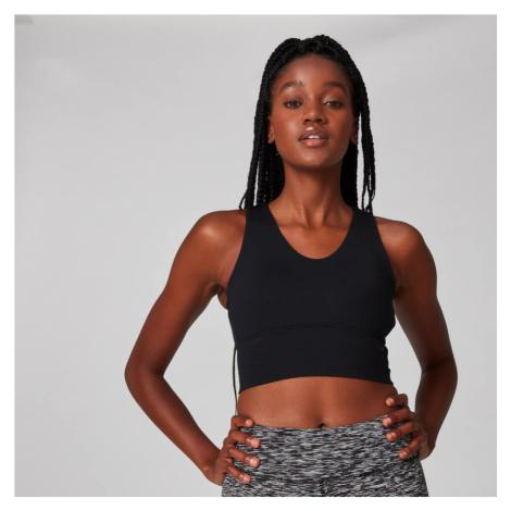 MP Women's Power Longline Sports Bra - Black Myprotein