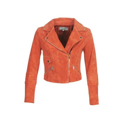 Vila VIJOLLY women's Leather jacket in Orange
