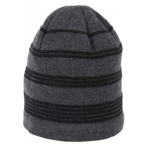 Finmark WINTER HAT grey - Knitted winter hat