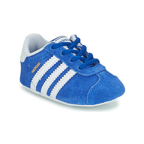 Adidas GAZELLE CRIB girls's Children's Shoes (Trainers) in Blue