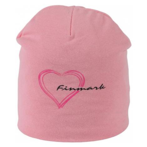 Finmark CHILDREN'S HAT pink - Winter hat