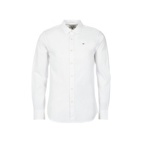 Tommy Jeans KANTERMI men's Long sleeved Shirt in White Tommy Hilfiger