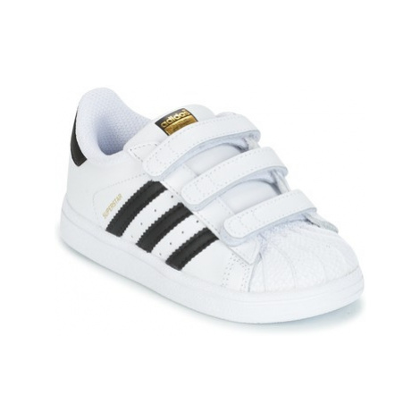 Adidas SUPERSTAR CF I girls's Children's Shoes (Trainers) in White