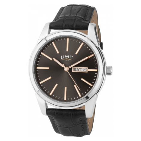 Mens Limit Silver Coloured Day Date Watch