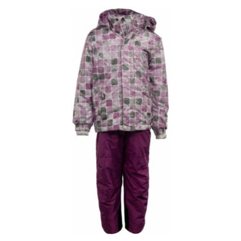 ALPINE PRO CHUPO 2 purple - Children's ski set