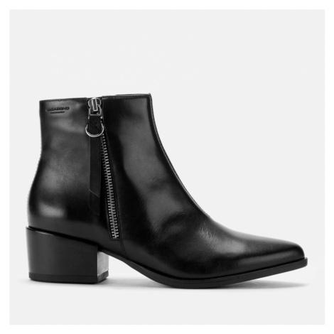 Vagabond Women's Marja Leather Heeled Ankle Boots - Black - UK - Black