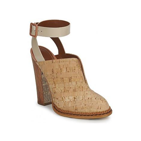 John Galliano AN9211 women's Clogs (Shoes) in Beige