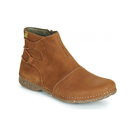 El Naturalista ANGKOR women's Mid Boots in Brown