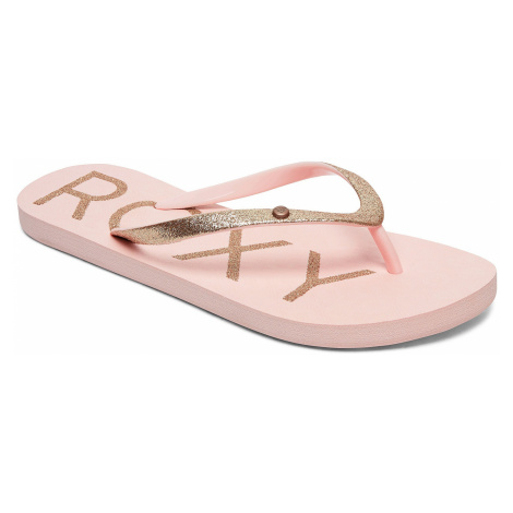 flip flops Roxy Viva Glitter IV - LPC/Light Peach - women´s