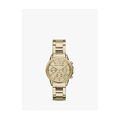 Armani Exchange AX4327 Women's Crystal Chronograph Date Bracelet Strap Watch, Gold