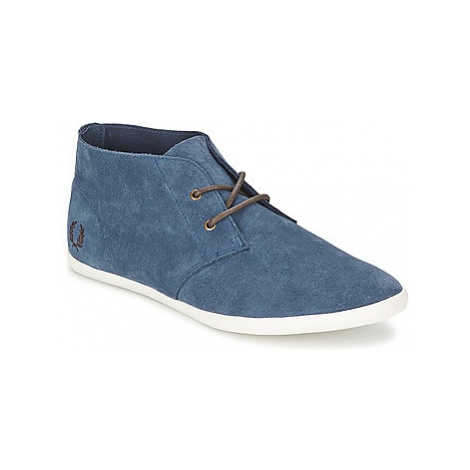 Fred Perry ROOTS UNLINED SUEDE women's Shoes (High-top Trainers) in Blue