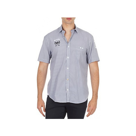 Serge Blanco 15115 men's Short sleeved Shirt in Blue
