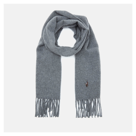 Polo Ralph Lauren Men's Fringed Virgin Wool Scarf - Fawn Grey Heather