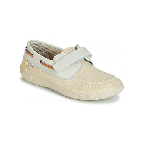Citrouille et Compagnie JALOLIE boys's Children's Boat Shoes in White