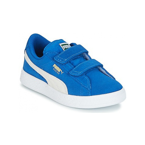 Puma SUEDE 2 STRAPS PS girls's Children's Shoes (Trainers) in Blue