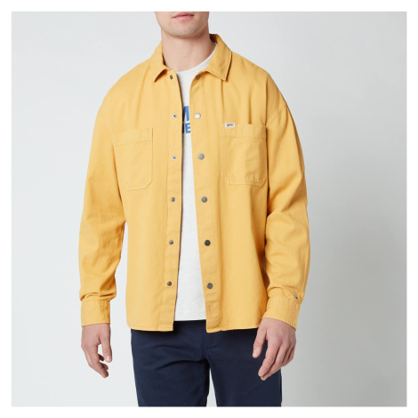 Tommy Jeans Men's Lightweight Twill Overshirt - Dusty Gold Tommy Hilfiger