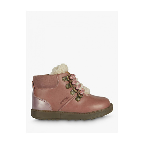 Geox Junior Hynde Faux Fur Lined Leather Boots