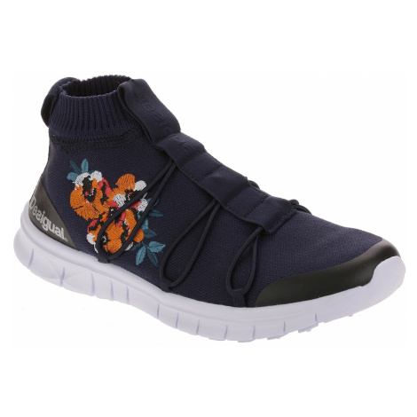 shoes Desigual 19SUKK01/Ankle Knitted Sneaker - 5096/Azul Tinta - women´s