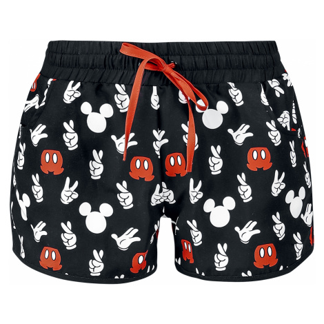 Mickey Mouse - Hand - Girls Swimshorts - black
