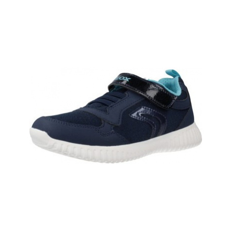 Geox J WAVINESS G.B boys's Children's Shoes (Trainers) in Blue