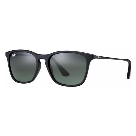 Ray-Ban Chris junior Unisex Sunglasses Lenses: Green, Frame: Black - RJ9061S 700571 49-15