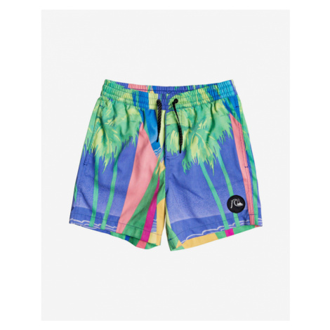 "Quiksilver No Destination 14"" Kids Swimsuit Blue Green Colorful"