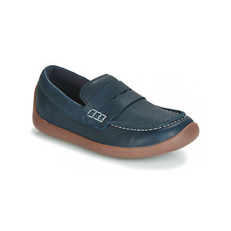 Clarks ArtistStride K girls's Children's Loafers / Casual Shoes in Blue