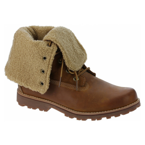 shoes Timberland Authentics 6 Waterproof Faux Fur Boot - 50919/Medium Brown Nubuck