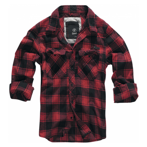 Brandit - Checkshirt - Shirt - red-black