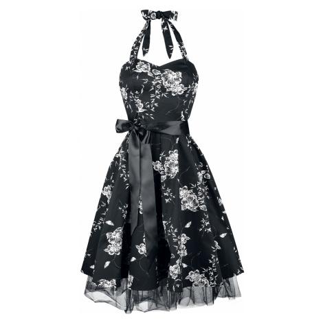 H&R London White Floral Medium-length dress black white