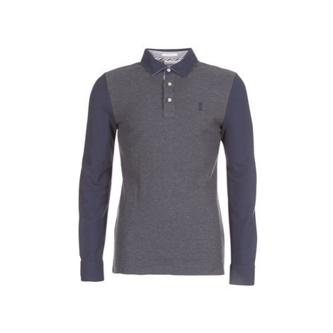 Vicomte A. PORTISHEAD LS TRI POLO men's Polo shirt in Grey