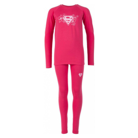 Warner Bros KIDS THERMO SET pink - Kids' functional base layer