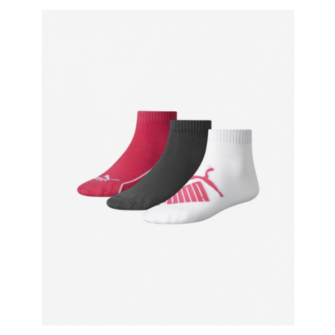 Puma Set of 3 pairs of socks Black Pink White Colorful